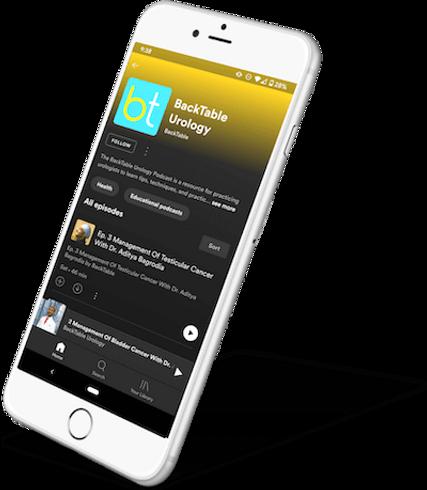 BackTable Urology Podcast on Spotify