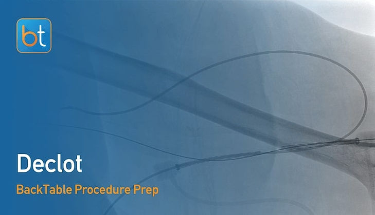 Step-by-step guidance on how to perform Declot. Review tools, techniques, pearls, and pitfalls on the BackTable Web App.