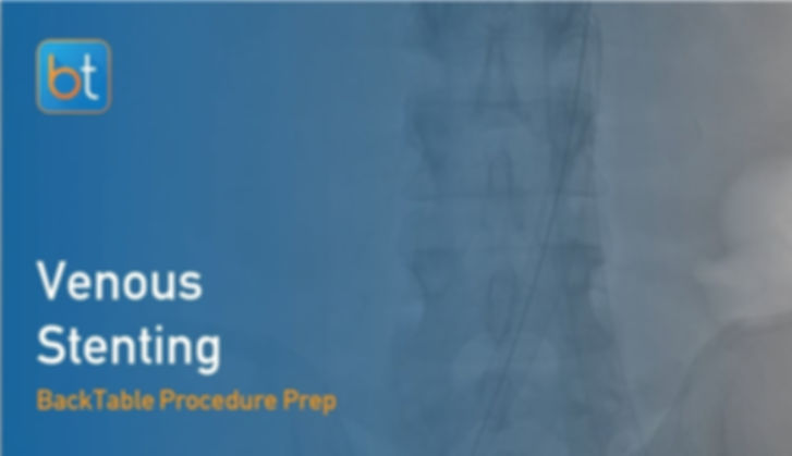 Step-by-step guidance on how to perform Venous Stenting. Review tools, techniques, pearls, and pitfalls on the BackTable Web App.