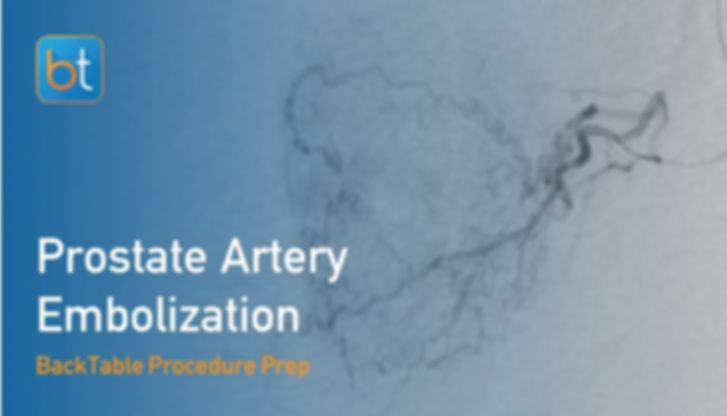 Step-by-step guidance on how to perform Prostate Artery Embolization. Review tools, techniques, pearls, and pitfalls on the BackTable Web App.