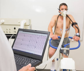 Cardiac stress testing with EKG