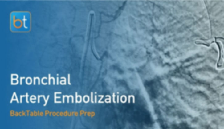 Step-by-step guidance on how to perform Bronchial Artery Embolization. Review tools, techniques, pearls, and pitfalls on the BackTable Web App.