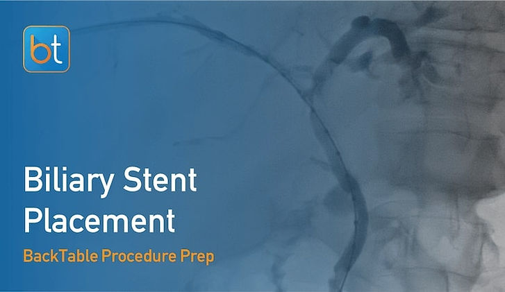 Step-by-step guidance on how to perform Biliary Stent Placement. Review tools, techniques, pearls, and pitfalls on the BackTable Web App.