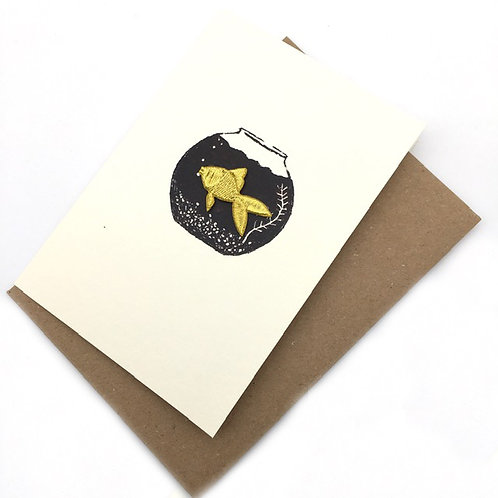 Iron-on Patch Fish Greetings Card