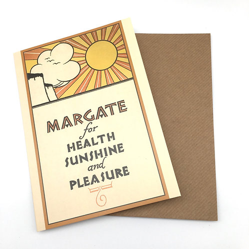 Margate for Health Greetings Card