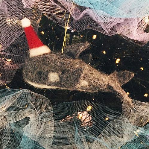 Whale Felt Christmas Decoration