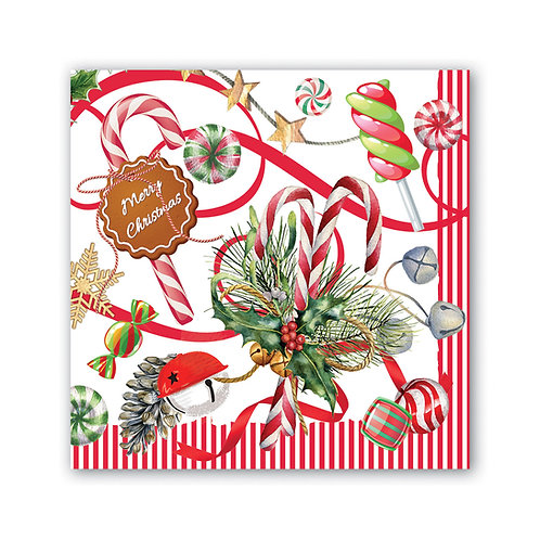 Peppermint Christmas Napkins