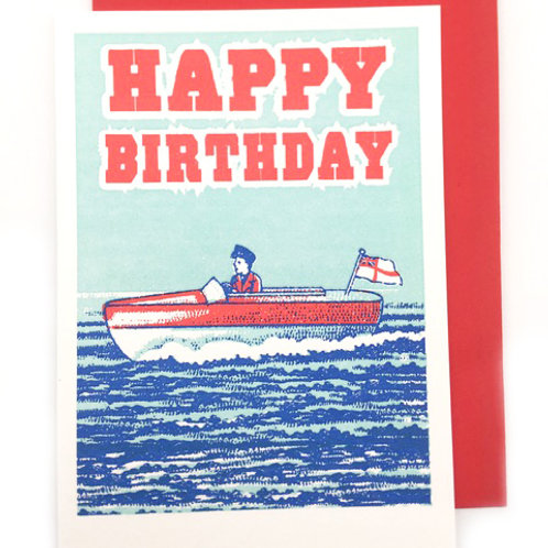 Boatman Birthday Card