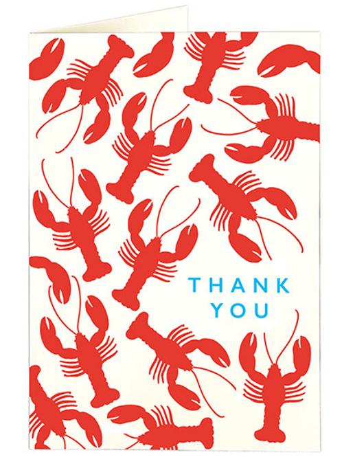 Lobster Mini Thank You Card