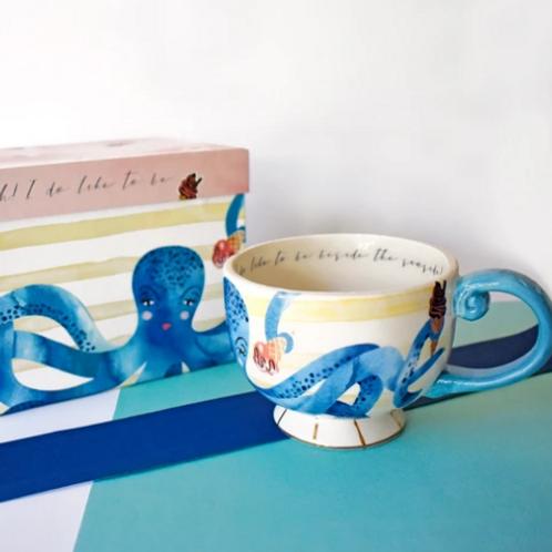 Octopus Large Tea Cup