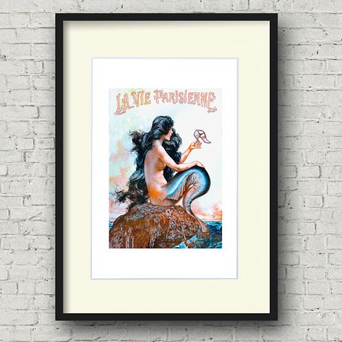 La Vie Parisienne Mermaid Print