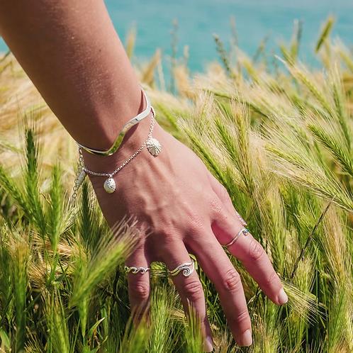 Silver Seashell Charm Bracelet
