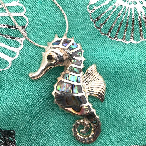 Silver and Abalone Necklace