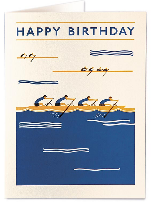 Rowers Birthday Card