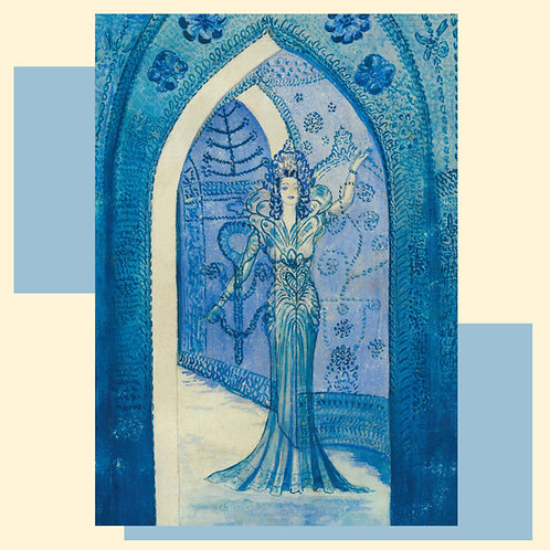 The Lady of the Temple Greetings Card