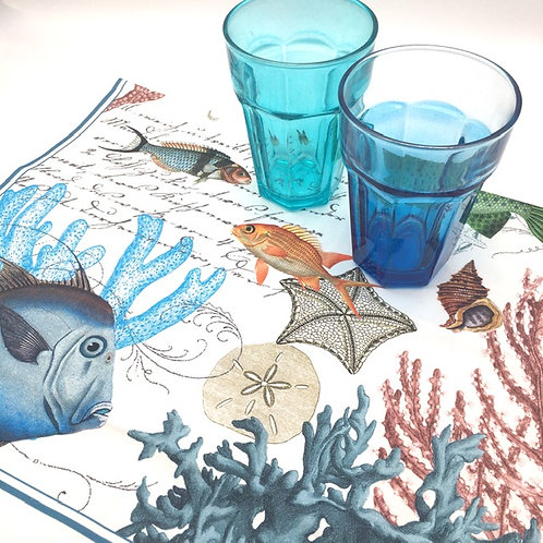 Sealife Tea Towel