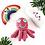 Thumbnail: Crochet Octopus Rattle - hot colours