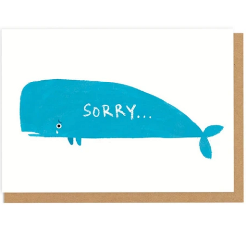 Sorry Whale Greetings Card
