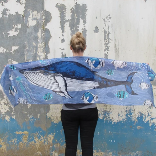 Whale Cotton Scarf