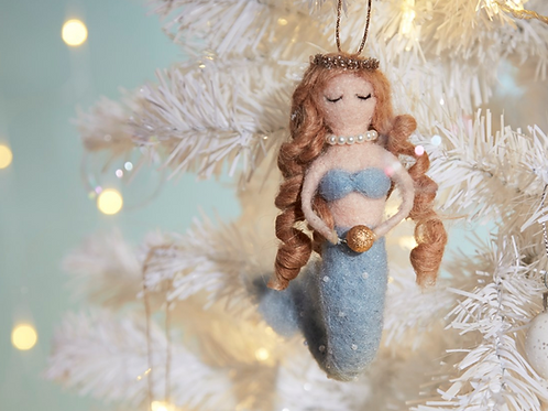Mermaid Felt Christmas Decoration