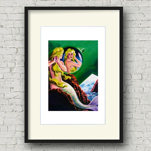 Mermaid Reflection Print