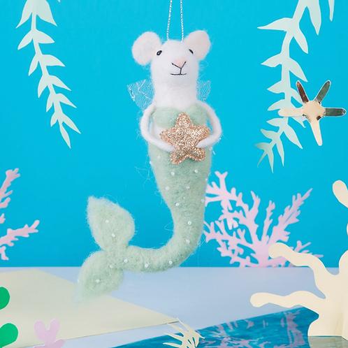 Mermaid Mouse Felt Decoration