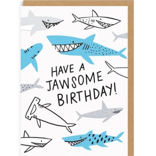 Jawsome Shark Greetings Card