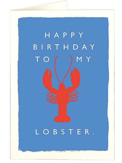 My Lobster Birthday Card