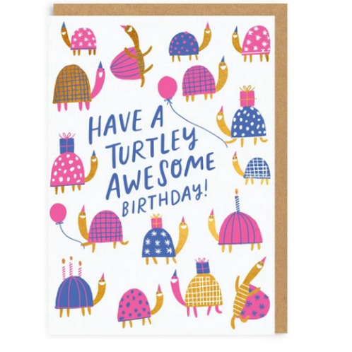 Turtley Awesome Greetings Card