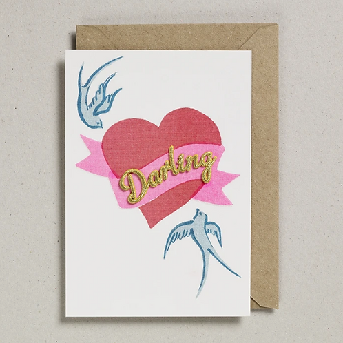 Iron-on Patch Darling Greetings Card