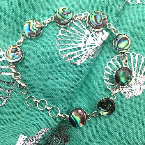 Silver Abalone Bracelet
