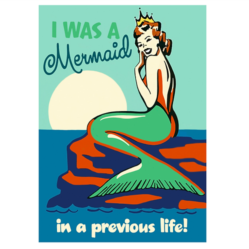 Mermaid in a Previous Life Greetings Card