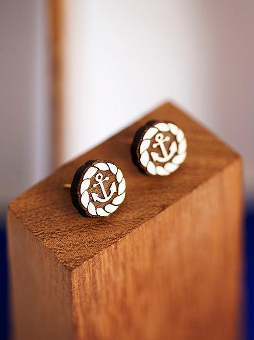 Anchor & Rope Stud Earrings