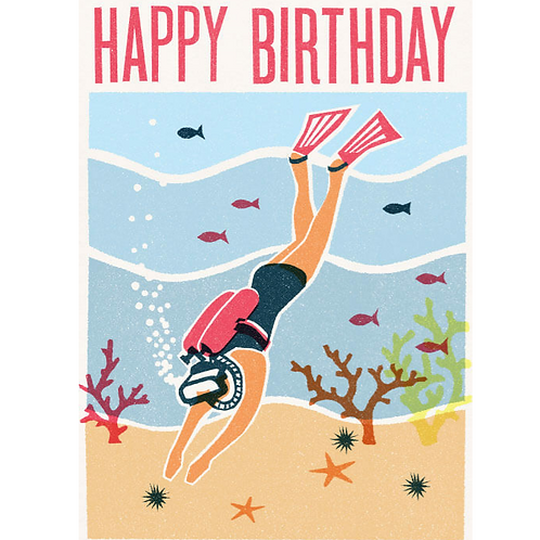 Birthday Diver Greetings Card