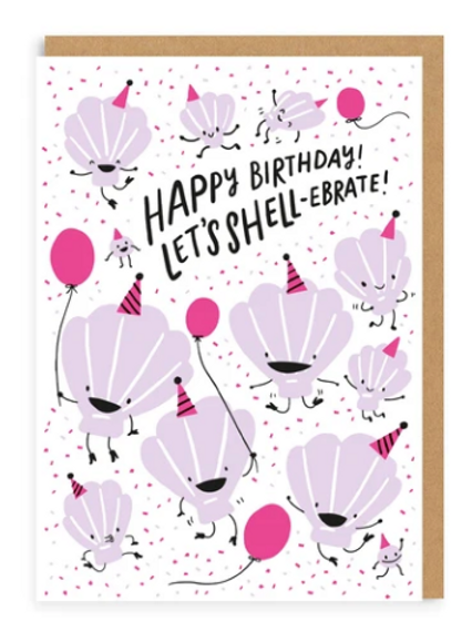Let's Shell-ebrate Greetings Card