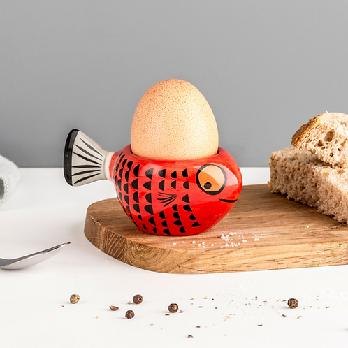 Hannah Turner Red Fish Egg Cup