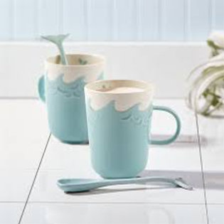 Mug with Whale Spoon