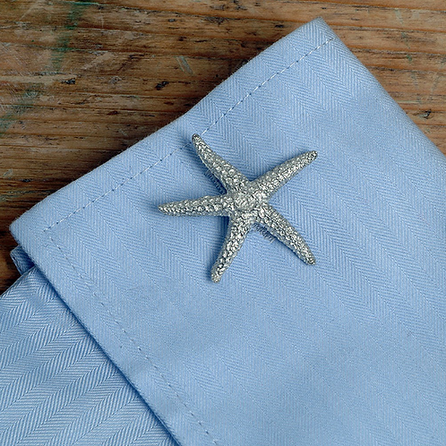Pewter Starfish Cufflinks