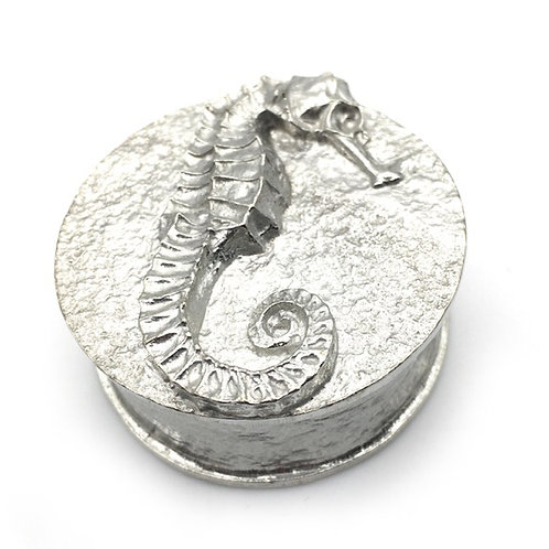 Pewter Seahorse Trinket Box