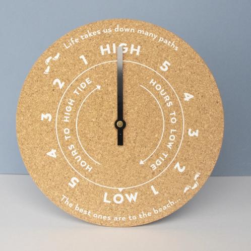 Cork Beach Tide Clock