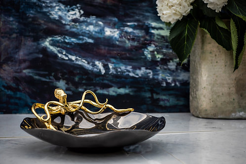 Hammered Glass Octopus Bowl