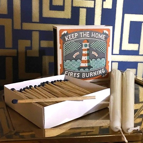 Keep the Homes Fires Burning Luxury Matches