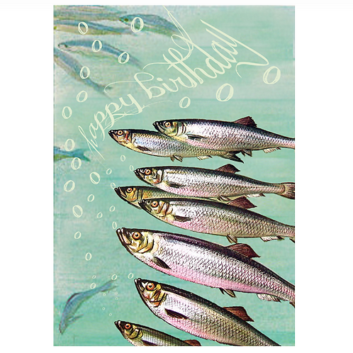 Fishes Birthday Card