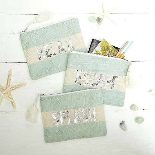 Seaside Sequin Pouch with Tassel