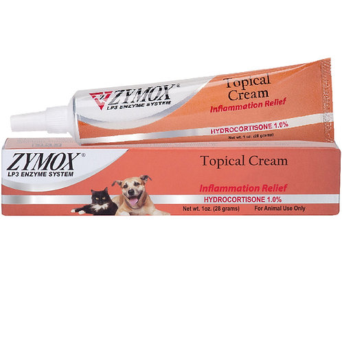 Zymox Topical Cream with Hydrocortisone 1% (1 oz) UK Stock