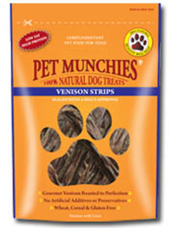 Pet Munchies Venison Strips 75g