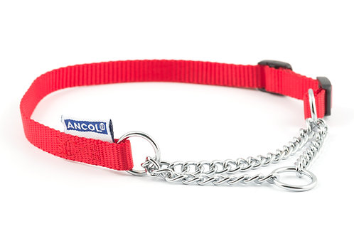 Ancol Half Check Choke & Nylon Chain Dog Training Collar