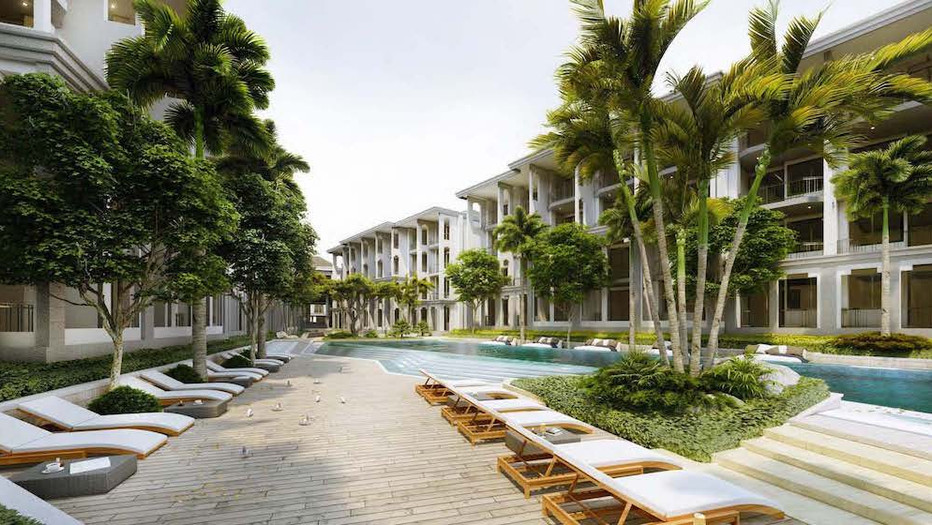 Upper upscale beach resort in Thailand