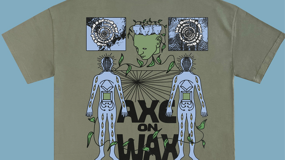 Let It Flow Oversized Olive T-Shirt
