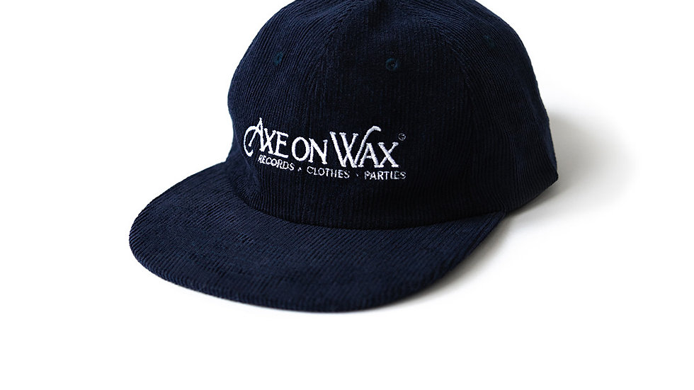 Navy Blue Corduroy Hat